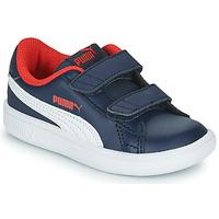 鞋子 男孩 球鞋基本款 Puma 彪马 SMASH 海蓝色