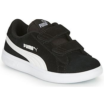 鞋子 儿童 球鞋基本款 Puma 彪马 SMASH 黑色