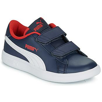 鞋子 男孩 球鞋基本款 Puma 彪马 SMASH PS 海蓝色