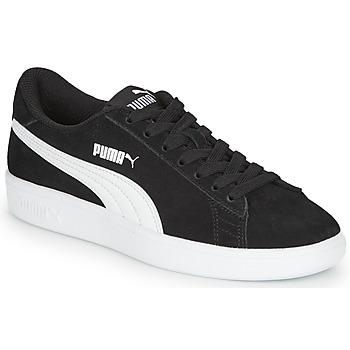 鞋子 男孩 球鞋基本款 Puma 彪马 Puma Smash v2 SD Jr 黑色