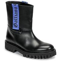 鞋子 男士 短筒靴 John Galliano 8560 黑色 / 蓝色