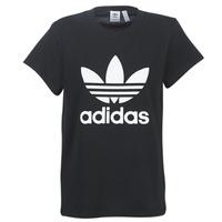 衣服 女士 短袖体恤 Adidas Originals 阿迪达斯三叶草 BOYFRIEND TEE 黑色