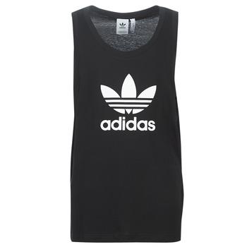 衣服 男士 無領短袖套衫/無袖T恤 Adidas Originals 阿迪達斯三葉草 TREFOIL TANK 黑色