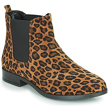 鞋子 女士 短筒靴 André ELEGANTE Leopard