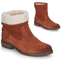 鞋子 女士 短筒靴 André ERIKA 橙色