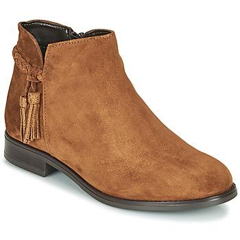 鞋子 女士 短筒靴 André MILOU 驼色