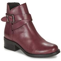 鞋子 女士 短筒靴 André NELL 波尔多红