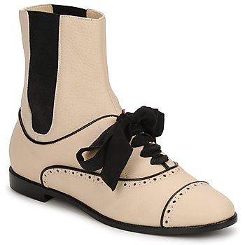 鞋子 女士 短筒靴 Moschino MA2103 米色