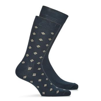 纺织配件 男士 短筒袜 André LOSANGE 海蓝色
