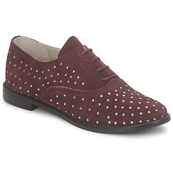 鞋子 女士 系帶短筒靴 Meline DERMION BIS 波爾多紅