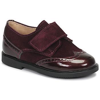 鞋子 女孩 德比 André JUNE 波尔多红