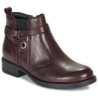 鞋子 女孩 短筒靴 André MATHI 波尔多红