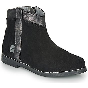 鞋子 女孩 短筒靴 André NOLWENN 黑色