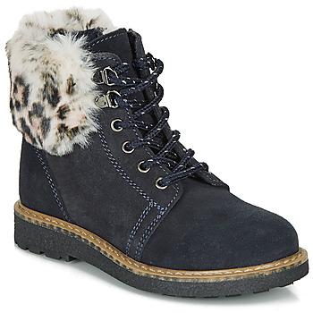 鞋子 女孩 短筒靴 André CHATAL 海蓝色
