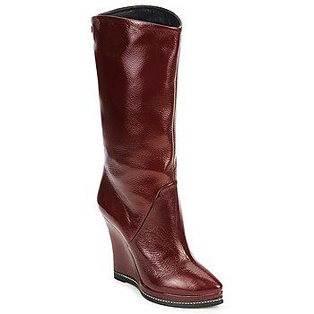 鞋子 女士 短靴 Fabi FD9737 波尔多红