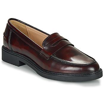 鞋子 女士 皮便鞋 André NERE 波爾多紅
