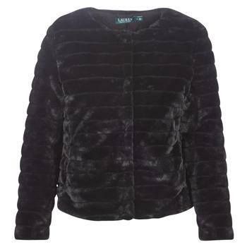 衣服 女士 大衣 Lauren Ralph Lauren FAUX CHUBBY 黑色