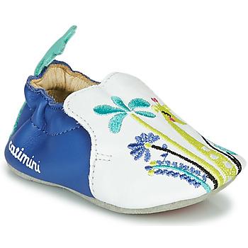 鞋子 女孩 拖鞋 Catimini COLIMA 白色 / 蓝色