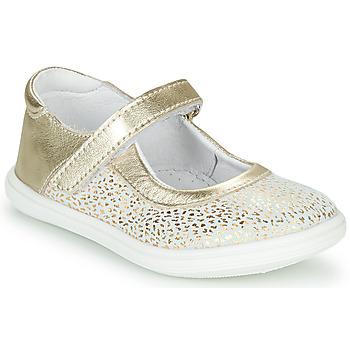 鞋子 女孩 平底鞋 GBB PLACIDA 白色 / 金色