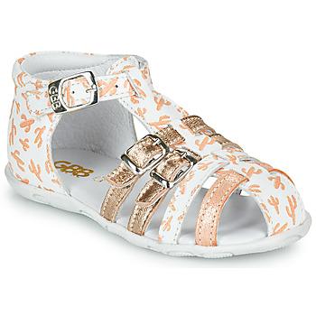 鞋子 女孩 凉鞋 GBB RIVIERA 白色 / 玫瑰色