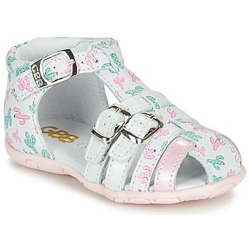鞋子 女孩 涼鞋 GBB RIVIERA 白色 / 玫瑰色
