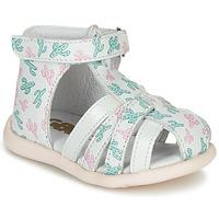 鞋子 女孩 凉鞋 GBB AGRIPINE 白色 / 绿色 / 玫瑰色