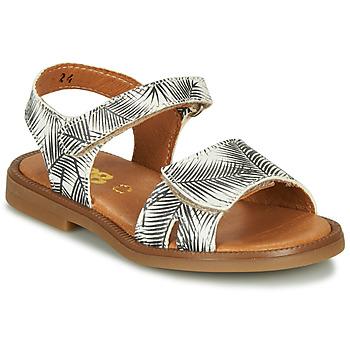 鞋子 女孩 凉鞋 GBB CAVOLA 白色 / 黑色