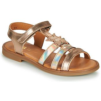 鞋子 女孩 凉鞋 GBB OLGA 玫瑰色 / 金色