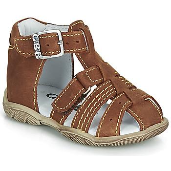 鞋子 男孩 涼鞋 GBB ARIGO 棕色