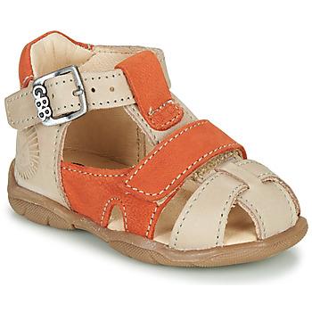 鞋子 男孩 涼鞋 GBB SEROLO 米色 / 橙色