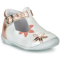 鞋子 女孩 平底鞋 GBB ANAXI 白色 / 玫瑰色 / 金色