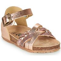 鞋子 女孩 凉鞋 GBB ALECTA 玫瑰色 / 金色
