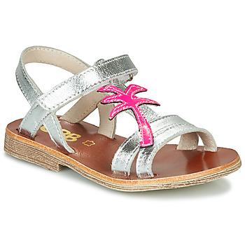鞋子 女孩 凉鞋 GBB SAPELA 银灰色 / 玫瑰色