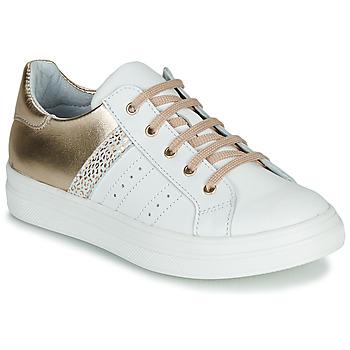 鞋子 女孩 球鞋基本款 GBB DANINA 白色 / 金色