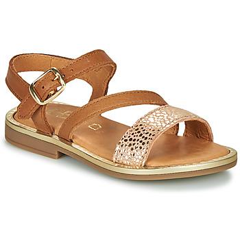 鞋子 女孩 涼鞋 GBB FANA 棕色