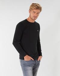 衣服 男士 长袖T恤 Lacoste TH6712 黑色