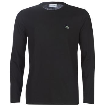 衣服 男士 長袖T恤 Lacoste TH6712 黑色