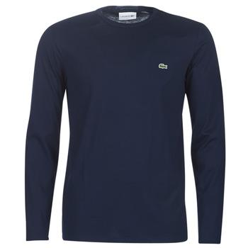 衣服 男士 長袖T恤 Lacoste TH6712 海藍色