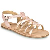 鞋子 女孩 凉鞋 Citrouille et Compagnie MAYANA 玫瑰色 / 金色