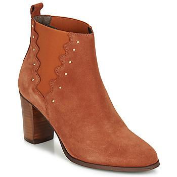 鞋子 女士 短靴 André NORINE 橙色