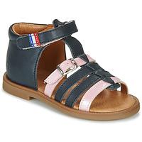 鞋子 女孩 凉鞋 GBB GUINGUETTE 海蓝色 / 玫瑰色