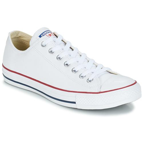 鞋子 球鞋基本款 Converse 匡威 Chuck Taylor All Star CORE LEATHER OX 白色