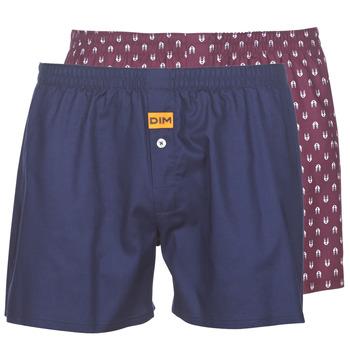 内衣  男士 男士短裤 DIM BOXER FLOTTANT x2 海蓝色 / 波尔多红