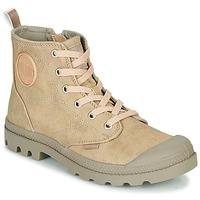 鞋子 女士 短筒靴 Palladium 帕拉丁 PAMPA HI DESERT 米色