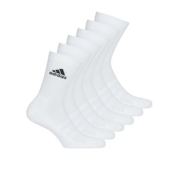 紡織配件   運動襪 adidas Performance 阿迪達斯運動訓練 CUSH CRW 6PP 白色