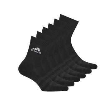 紡織配件   運動襪 adidas Performance 阿迪達斯運動訓練 CUSH CRW 6PP 黑色
