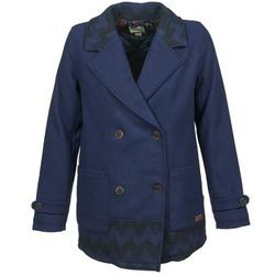 衣服 女士 大衣 Roxy 罗克西 MOONLIGHT JACKET 海蓝色 / 黑色