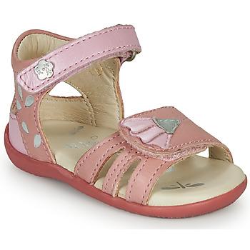 鞋子 女孩 凉鞋 Kickers BICHETTA 玫瑰色