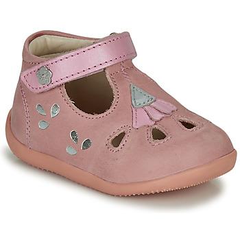 鞋子 女孩 凉鞋 Kickers BLUPINKY 玫瑰色 / 银灰色