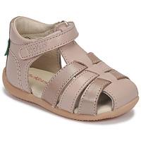 鞋子 女孩 凉鞋 Kickers BIGFLO-2 玫瑰色 / 金属银